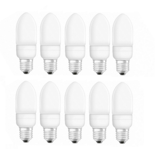 10 Pack 7W ES Low Energy Fluorescent 11328