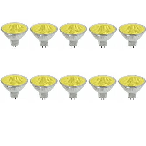 Fnv-P-Yellow 50W 12V Gu5.3 Pack Of 10