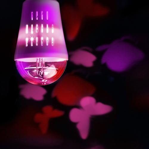 Butterflies Rotating Coloured LED Lamp 9744