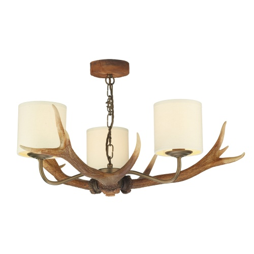 ANT0329 Antler Rustic Ceiling Light