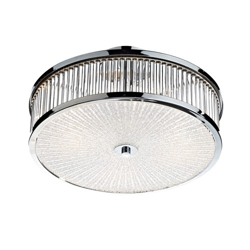 Aramis Chrome Flush Ceiling Light Ara5250