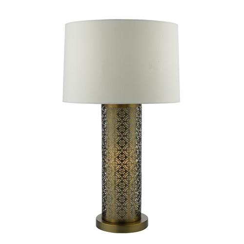 ASW4263 Aswan Bronze Fret Work Table Lamp