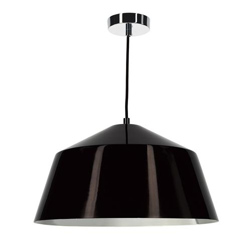 Bey Dark Bronze And Chrome Single Pendant Light Bey0163