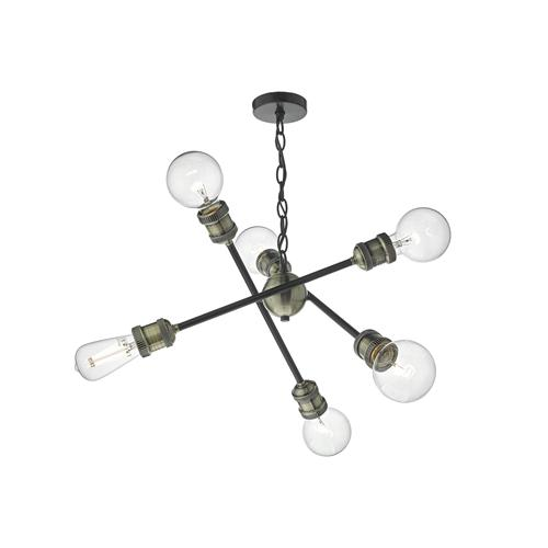 Brigade 6 Light Ceiling Pendant Bri0654