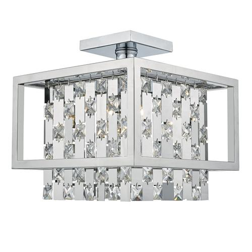 Cepheus 4 Light Semi-Flush Crystal Light Cep0450