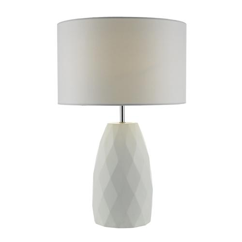 Ciara White Geometric Table Lamp Cia422