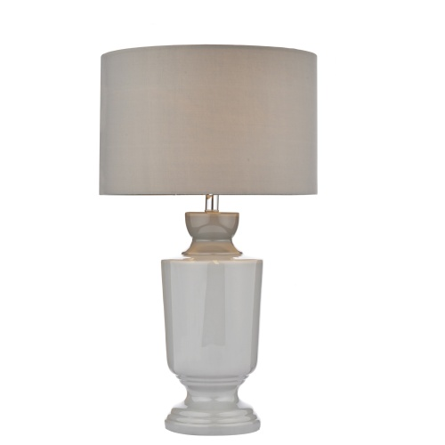 Elmo Grey Ceramic Table Lamp Elm4239