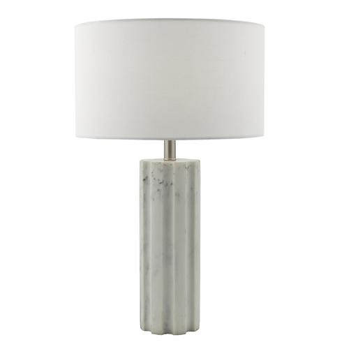 ERE422 Erebus White/Grey Faux Marble Table Lamp