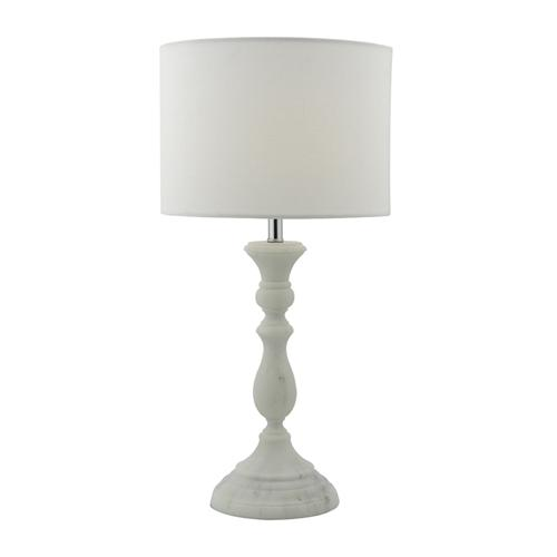 Ermin White/Grey Faux Marble Table Lamp Erm422 | The Lighting ...