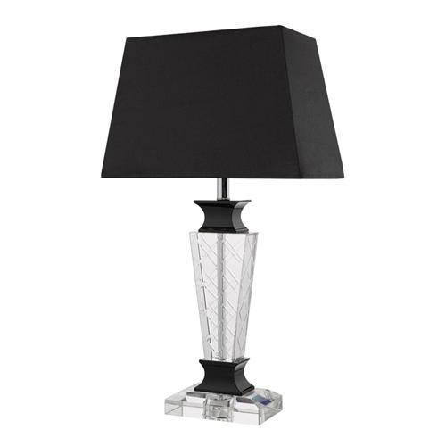 Ezra Black And Crystal Table Lamp Ezr4222