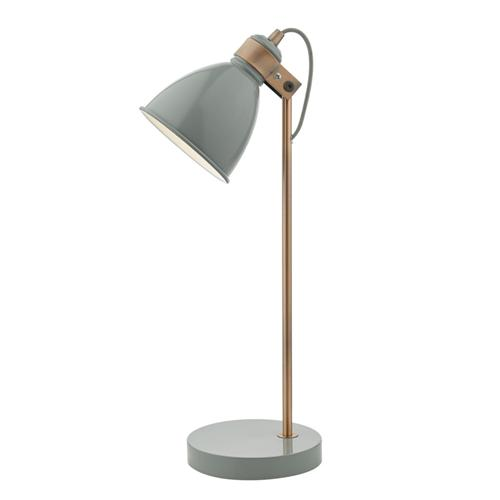 Frederick Gloss Grey/Satin Copper Table Lamp FRE4239