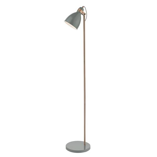 Frederick Grey Gloss/Satin Copper Floor Lamp Fre4939