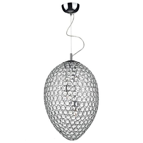 Frost Crystal and Chrome 3 Light Ceiling Pendant FRO0350