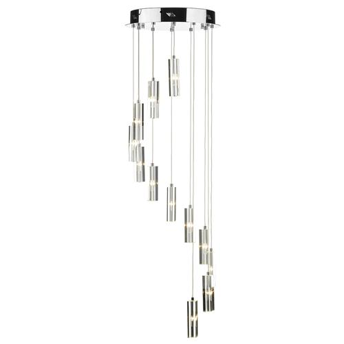 Galileo 12 Light Crystal Cluster Pendant Gal1250/Led