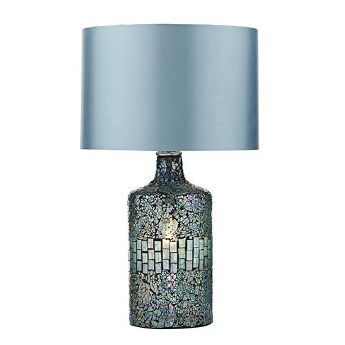 Guru Blue Mosaic Table Lamp GUR4223