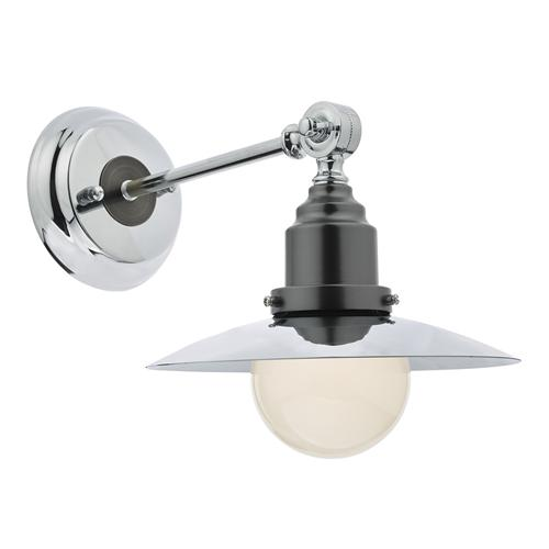 Small Chrome Wall Lights : HAN7150 Hannover Polished Chrome Small Single Wall Light The Lighting Superstore