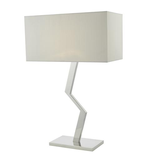Hebden Stylish Satin Silver Table Lamp Heb4250