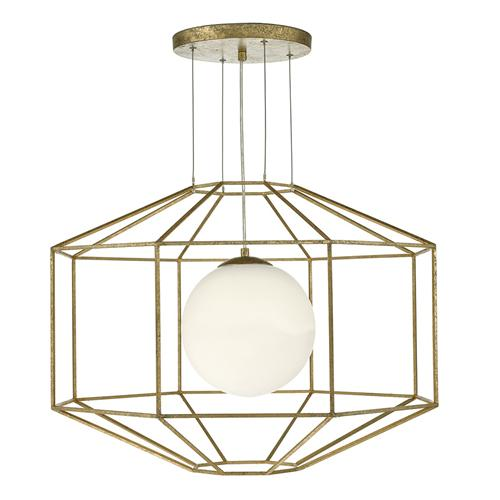 IZM0135 Izmir Aged Gold Coloured Pendant Light
