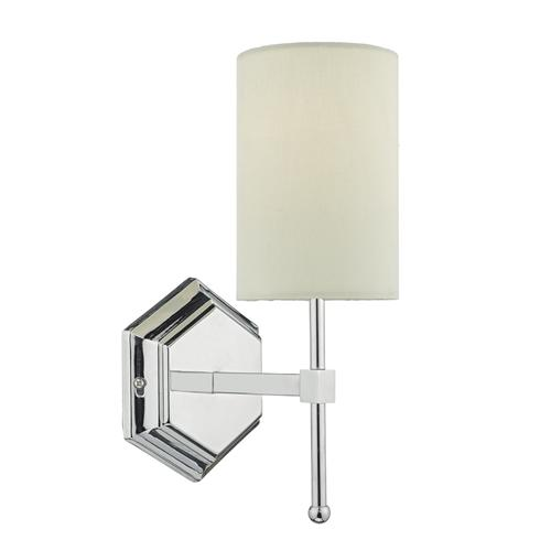 Klemens Single Wall Light With Cream Shade Kle0750