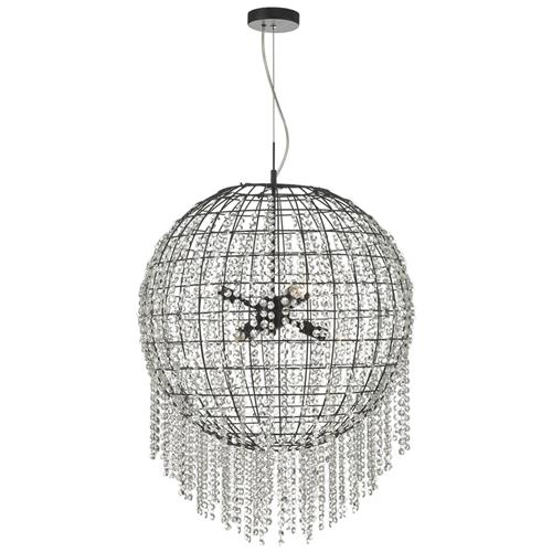 Lupita Black Six Light Crystal Ceiling Pendant Lup0622