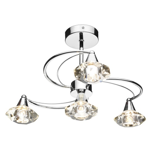 LUT0450 Luther 4 Light Semi Flush Fitting