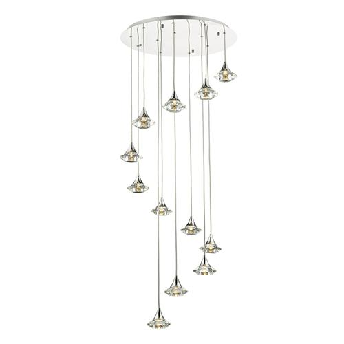 LUT1250 Luther 12 Light Crystal Glass Pendant