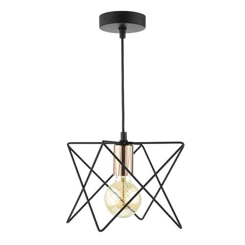 Midi Matt Black Wire Pendant Light Mid0122