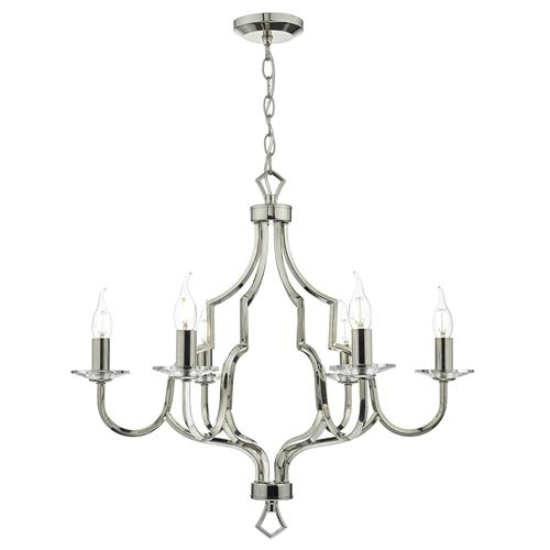 Nerva 6 Light Crystal Ceiling Pendant Ner0638