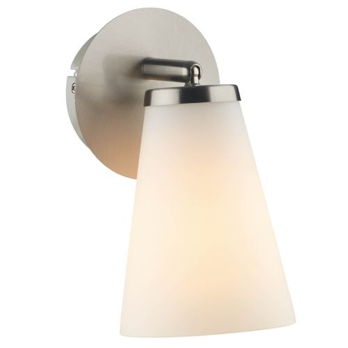 Single Chrome Wall Lights : Osbourne Single Satin Chrome Wall Light Osb0746 The Lighting Superstore