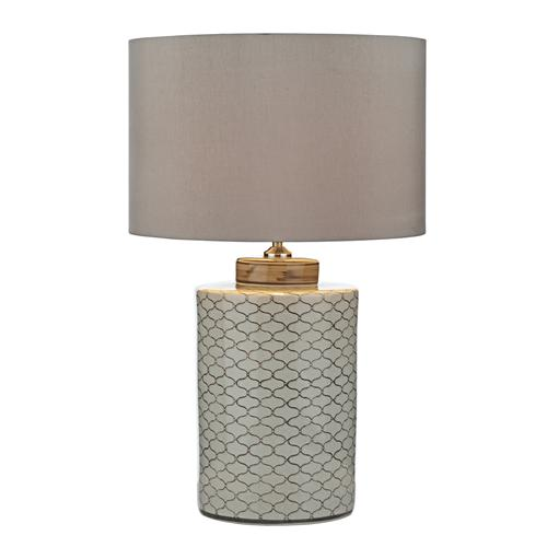 PAX4233+S1120 Paxton Beige Table Lamp