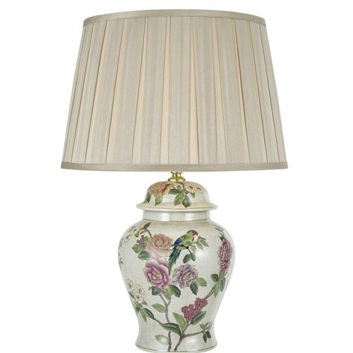 High Quality Peony Flower/Bird Table Lamp Peo4255+Deg1629