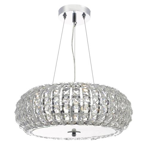 Piazza 3 Light Polished Chrome Pendant Pia0350
