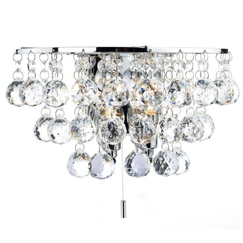 Pluto Crystal Wall Light Plu0950