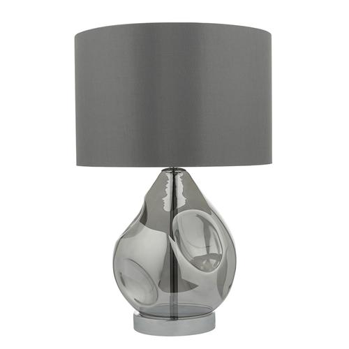 Quinn Smoked Glass Table Lamp Qui4210