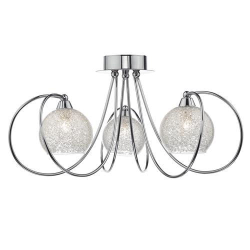 Rafferty 3 Light Semi Crystal Flush Light Raf5350
