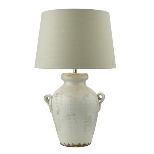 Ravenna Distressed Antique Cream Table Lamp Rav4233