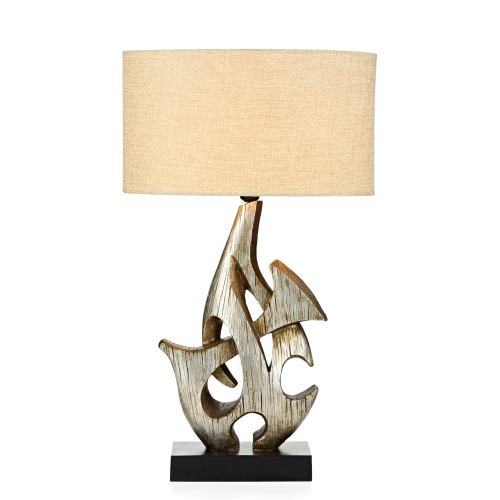 Sabre Ornate Silver Table Lamp Sab4332/X