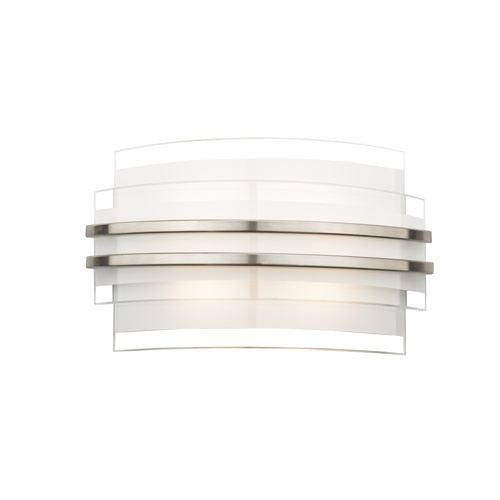 Sector LED 260mm Glass and Chrome Wall Light SEC072