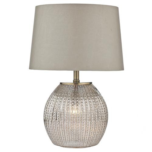 SON4232 Sonia Antique Silver Table Lamp