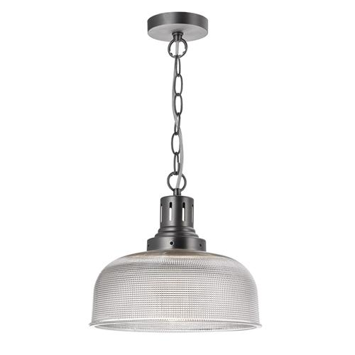 Tack Single Antique Chrome Industrial Pendant Light TAC0161