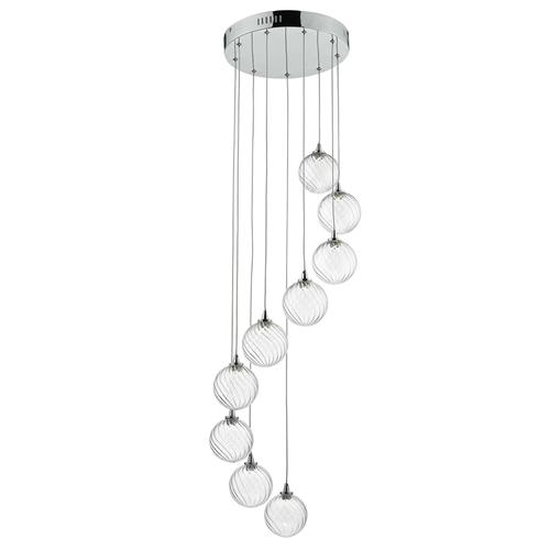 Toulose Polished Chrome 9 Light Pendant Tou1350