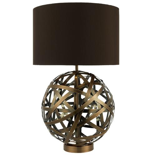 Voyage Antique Copper Ball Table Lamp Voy4264