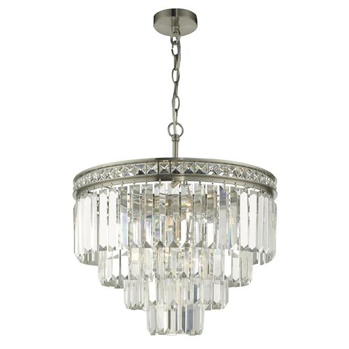 Crystal ceiling lights the lighting superstore vyana 4 light brushed nickel crystal pendant vya0438 aloadofball Gallery