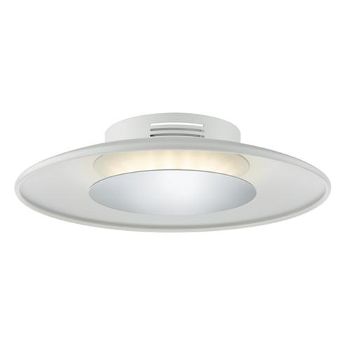 Worcester White/Chrome Small LED Flush Ceiling Light WOR522