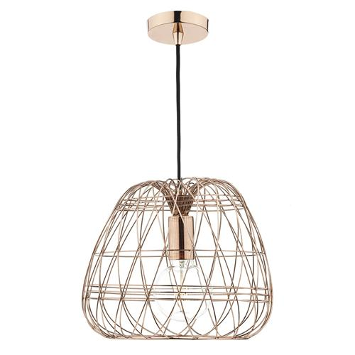 WOV0164 Woven Copper Single Pendant Fitting