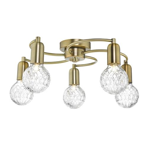 Wrexham 5 Light Semi Flush Ceiling Fitting Wre5475