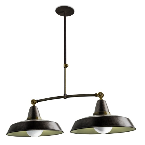 Vintage double pendant light the lighting superstore for Luminaire double suspension