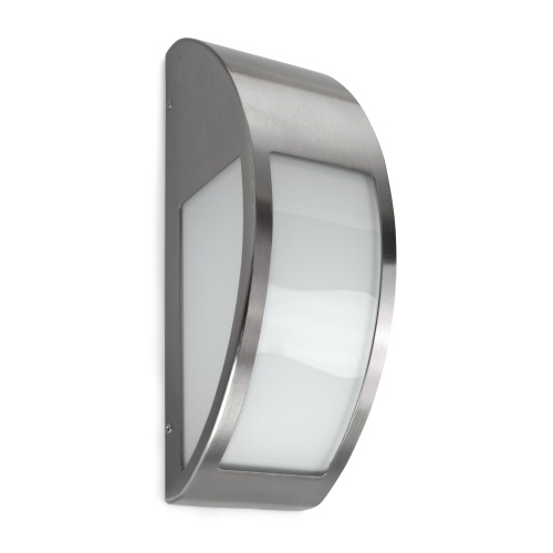 Steel and chrome outdoor wall lights the lighting superstore trebbin outdoor led light 05 9777 ca g5 aloadofball Image collections