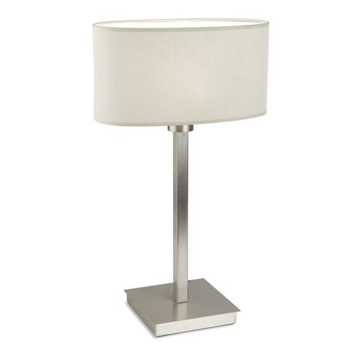 10-4695-81-82 + PAN-177-BY Torino Table Lamp Finished In Satin Nickel With Cream Shade