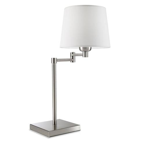 Dover Satin Nickel Table Lamp 174-Ns+Pan-157-14